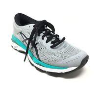 Women's Asics Gel-Kayano 24 Running Shoes Sneakers Size 6 Gray Black Blue S11