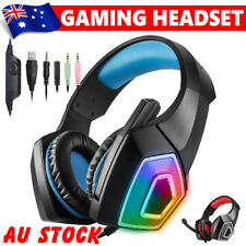 LED Gaming Headset Mic Bass Surround Headphones for Laptop PC Mac PS4 Xbox One