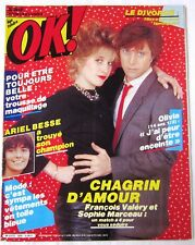 OK MAGAZINE - N° 325 - CHAGRIN D'AMOUR, Ariel Besse, Sophie Marceau, F. valéry