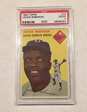 1954 TOPPS #10 JACKIE ROBINSON PSA 2, DODGERS HOF - GREAT COLORS, Free shipping