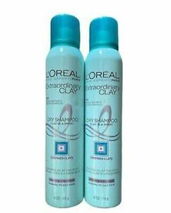 L'Oreal Paris Hair Expert Extraordinary Clay Dry Shampoo 4 oz Each Lot of 2