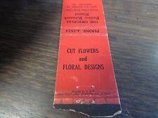 DUNMORE PA - THE ORIGINAL PAULINE POINSARD FLORIST - MATCHBOOK COVER