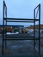 "10 SECTIONS  PALLET RACK 80' L X 12'T X 42"" DEEP , CLEAN RACKING , HD"