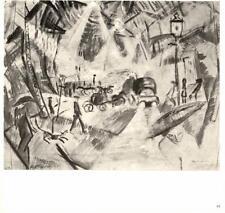 Max Ernst: Paris Street,1912- Watercolor- Bookplate Art Print