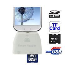 Card Reader HUB OTG Micro USB per Samsung Galaxy S3 i9300 Lettore SD TF Pendrive