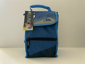 Arctic Zone Insulated Lunch Bag  Food Container  nylon PVC - Blue New