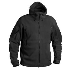 Helikon Tex Patriot Heavy Fleece Outdoor Hooded Jacket Black XS XSmall