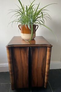 art deco walnut Cocktail Cabinet, Vinyl Storage Unit