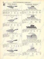 1920s Antique Hardware Ad Brick Plastering Trowels Sandpaper Emery Cloths Glue