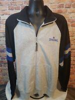 Spalding Vintage Track Warmup Jacket Men's Size XL Full Zip Blue Gray Black 80s
