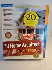 3D Home Architect Home Design Deluxe 6 Software - Complete!