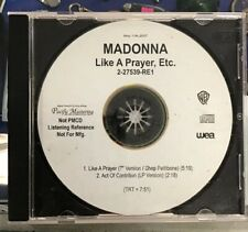 Madonna Like A Prayer, Etc Promo In House CDr CD Reference 2-27539-RE1 Shep
