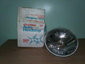 5001 Incandescent Hi Beam Headlight ROUND 2-prong NOS Sylvania GTE USA