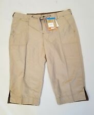 Columbia Arch Cape Knee Pants Brown Relaxed Fit Sz M UV Sun Protection Hiking