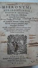 Saint JEROME D. HIERONYMI STRIDONIENSIS EPISTOLAE SELECTAE 1612