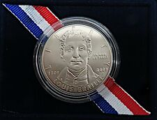 2009 LOUIS BRAILLE Commemorative DOLLAR UNCIRCULATED  WITH BOX & COA