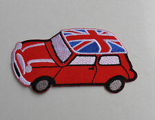 Patch,Vintage,Mini,Union Jack,Aufnäher,Aufbügler,Badge,Racing,Morris Motors,BMC