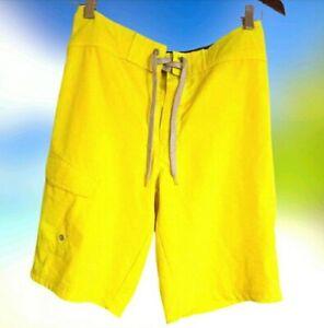 MOSSIMO Men's Yellow Swim Board Shorts Size 28