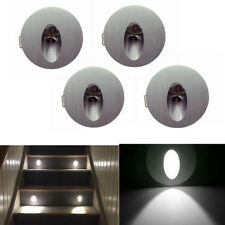4x 1W LED Murale Applique Encastrable Coin Mur Escalier Gallery Spot Lampe Rond