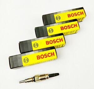 4x Bosch 0250202001 Glow Plugs Duraterm For Ducato Escort Orion Master Trafic