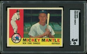 1960 Topps Mickey Mantle #350 SGC 3 VG