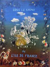 catalogue NICOLAS des grands vins de 1956  peintures de oudot
