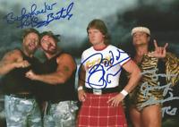 Roddy Piper, Bushwackers & Jimmy Snuka Autograph Pre Print Wrestling Photo 8x6