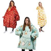 Fleece Sherpa Hoodie Blanket Oversized Wearable Hooded Winter Warm Unisex