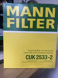 2 x Activated Carbon Filter Pollen Mann-Filter Made in Germany BMW 5/6/7 Series