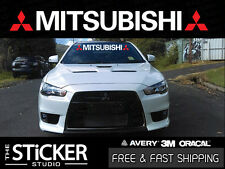 Mitsubishi Windshield #2 Logo sticker Lancer mirage outlander Evolution 7 8 9 x
