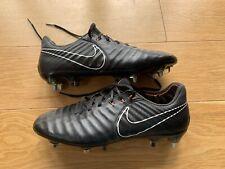 Nike Tiempo Legend VII Elite SG Pro Anti Clog Fooball Boots Black UK 7