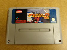 SUPER NINTENDO SNES GAME / F1 POLE POSITION 2 (FORMULA 1, ONE)
