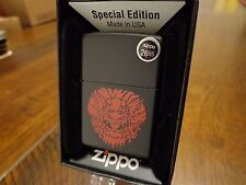 CHINESE DRAGON ASIAN DRAGON BLACK MATTE ZIPPO LIGHTER MINT IN BOX