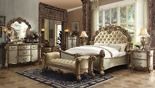 LAUREL 5 pieces Traditional Gold & Cream Bedroom Set NEW Furniture - King Bed