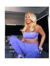 Gym Set Purple Leggings Crop Top Bra Bum Running Set 8/10