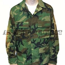 US Military ARMY BDU FIELD SHIRT COAT JACKET Woodland Camo LARGE / XS NEW