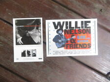 Lyle Lovett and Willie Nelson Lost Highway Record Release Postcards