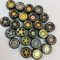 1/64 Scale Rubber Tires Alloy Wheels Custom Hot Wheels