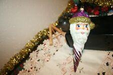 Kurt Adler Polonaise Ornate Santa Icicle ornament made in Poland