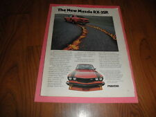 "MAZDA RX-3SP  PROMO AD-""""-1977-Original Magazine Print"