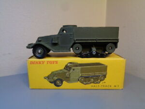 DINKY TOYS FRANCE No 822 VINTAGE MILITARY M3 HALF TRACK MINT IN BOX