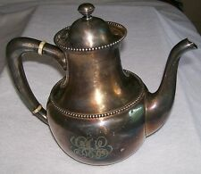 "R.WALLACE & SONS ANTIQUE 8 "" TEA/COFFEE SERVER GREAT PATINA , DECORATIVE PIECE"