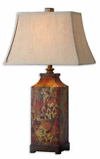 """Colorful Flowers Multicolored Floral Print Table Lamp 32""""H by Uttermost 27678"""