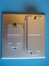 Red Dot  2CCSD Dry-tite Cover for Single hole and Duplex Receptacle; Two Gang