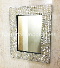 Mirror Wall Hanging Bedroom Mother of Pearl Frame Home Decorative Decor