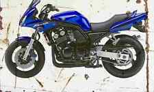 Yamaha FZS600 Fazer 2003 Aged Vintage SIGN A4 Retro