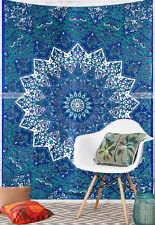 Twin Tapestry Star Elephant Mandala Bohemian Wall Hanging Boho Blue Home Decor