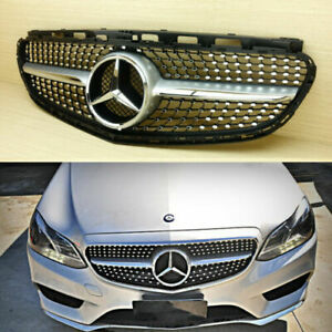 12CF FRONT RADIATOR MASK GRILLE FOR 2013 - 2016 E-CLASS W212 FACELIFT DIAMOND