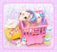 ❤️My Little Pony MLP G1 Vtg 1984 Baby Glory Unicorn Play 'n Care Accessory❤️