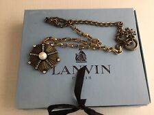 100 % Auth LANVIN  Jewel Pendant Statment Necklace. Made in France. Stunning !